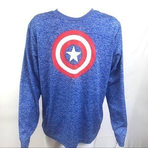 Marvel Captain America Graphic T-Shirt Med 38